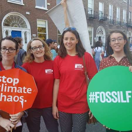 Christian Aid Ireland supporters take part in the Climate Strikes in Dublin